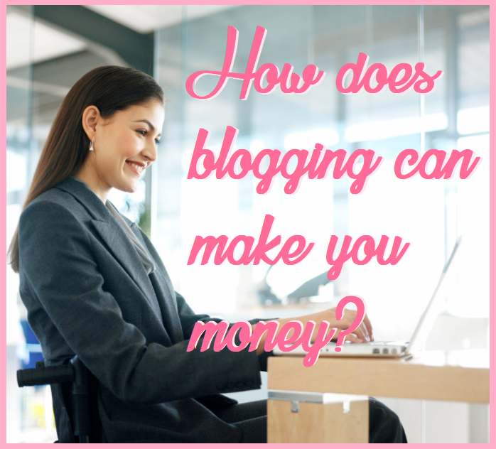 Blogging lady