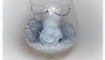 DIY – Brandy Glass Candle Light Centerpiece