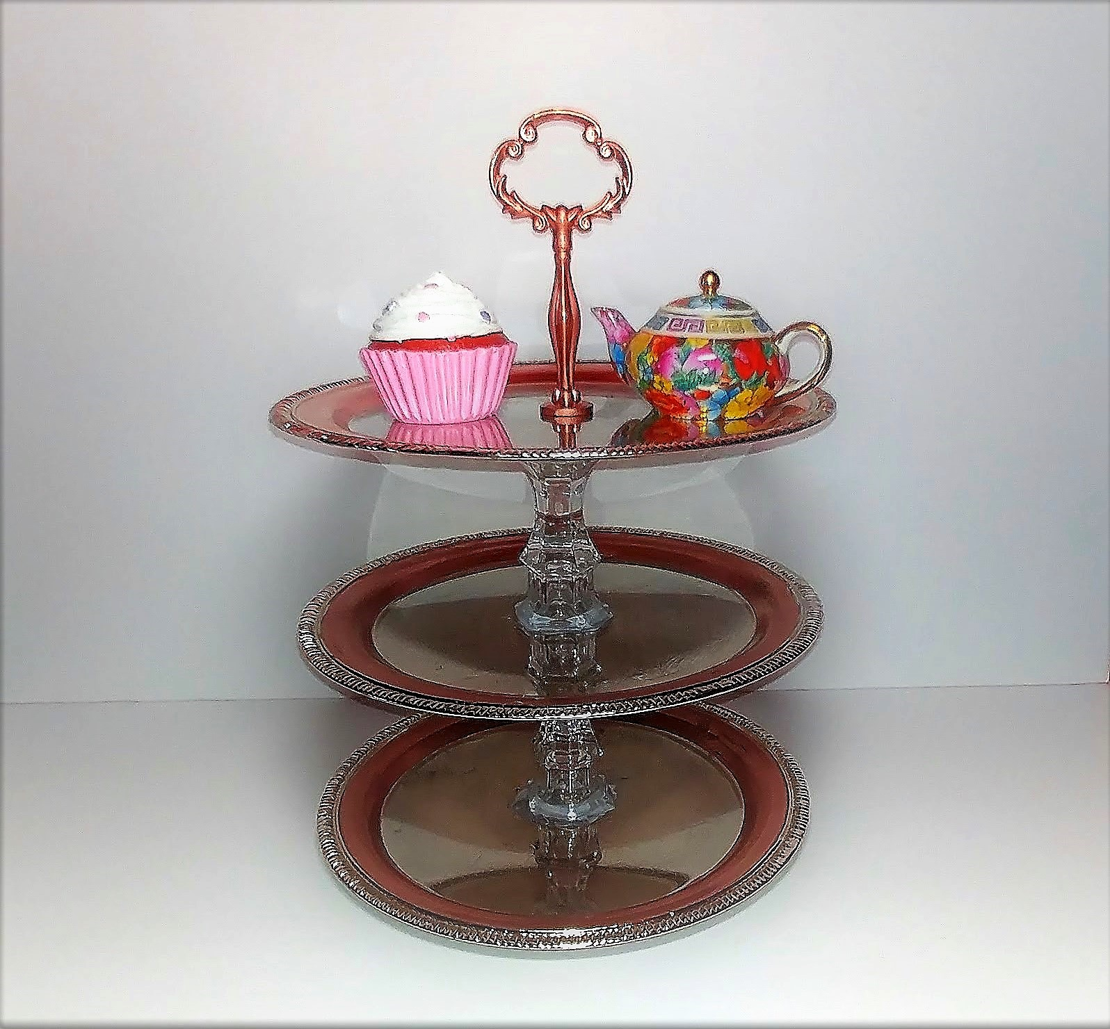 Three Tier Cake And Cupcake Stand
